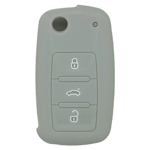 fassport-silicone-cover-skin-jacket-for-volkswagen-skoda-seat-3-button-flip-remote-key-cv2801-grey