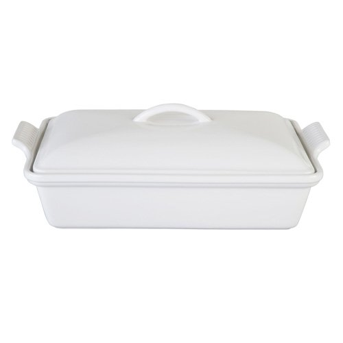 Le Creuset Heritage 4-Qt. Covered Casserole Dish: White