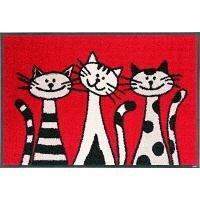 wash+dry(ウォッシュアンドドライ)マット Three Cats 50×75cm WD-21 8430am