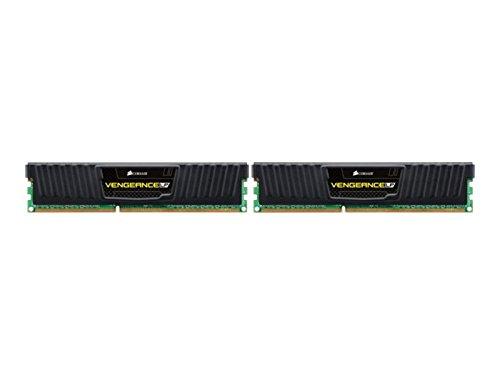 Corsair CML8GX3M2C1600C9 Vengeance LP Kit di Memoria da 8 GB, 2x4 GB DDR3L Low Voltage, 1600 MHz, CL9 XMP Performance, Nero