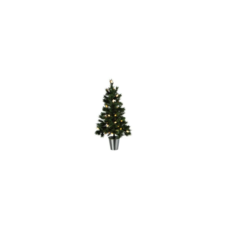 3 Pre Lit Green Pine Artificial Christmas Tree   Frosted C7 Lights