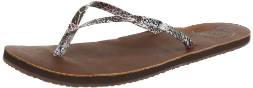 Brown Leather Flip Flops For Women front-694500