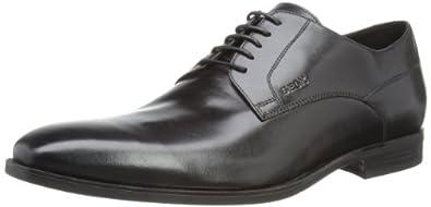 Geox  U NEW LIFE C, Chaussures de ville homme Noir Schwarz (BLACK C9997) 41.5