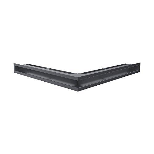 Kratki Lüftungsgitter Kamingitter Eck-Luft graphit 560 mm x 560 mm x 60mm günstig kaufen