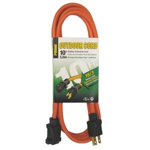 nac wire and cables 10ft 16 3 outdoor extension cord. Black Bedroom Furniture Sets. Home Design Ideas