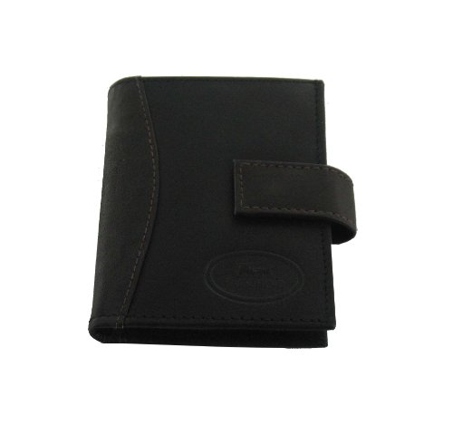 Men's Real Leather Small Black/Brown Wallet/Card Organiser (Wlt139)