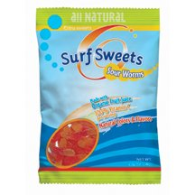 Surf Sweets Super Sour Worms;made With Organic Ingredients 78 Gm (Pack Of 12)