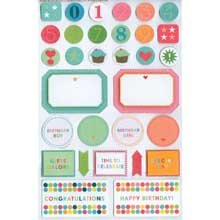 Bright Birthday Labels