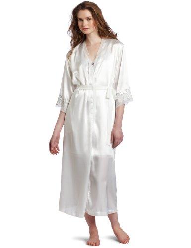 Oscar de la Renta Women's Elegant Lace Long Bathrobe