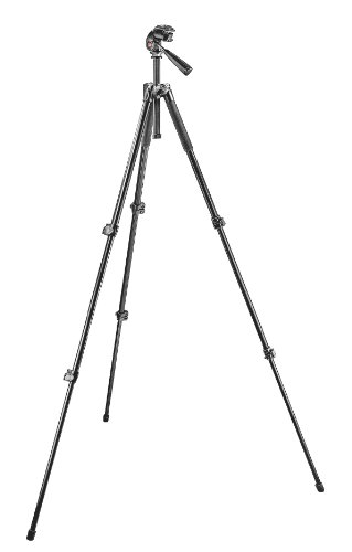 Manfrotto 293 Aluminum Kit with 3-Sections Tripod and 3-Way Head QR Black Friday & Cyber Monday 2014