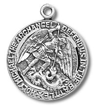 Sterling Silver Military St. Michael with 18