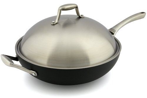 GreenPan San Francisco Wok with Lid, 12-1/2-Inch