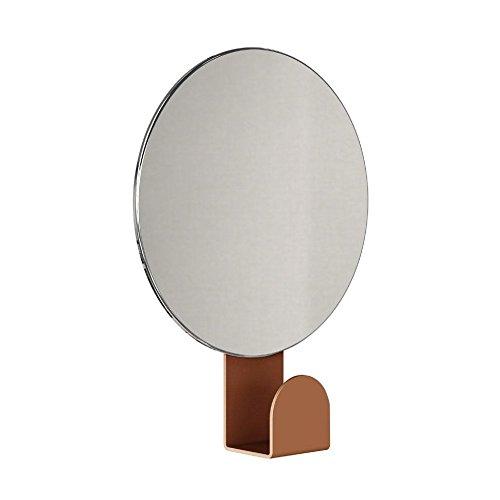 FROST Unu Spiegel 4120 mit Haken rund Ø 12cm, kupfer H: 16 Ø 12cm