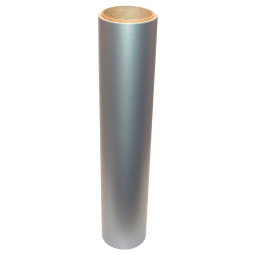 Vinyl Oasis Craft & Hobby Vinyl - Matte Silver Metallic W/ Removable Adhesive - 12 In. X 10 Ft. Roll
