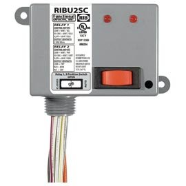 Functional Devices (RIB) RIBU2SC Enclosed Relays 10Amp 1 SPST-NO + Override + 1 SPD