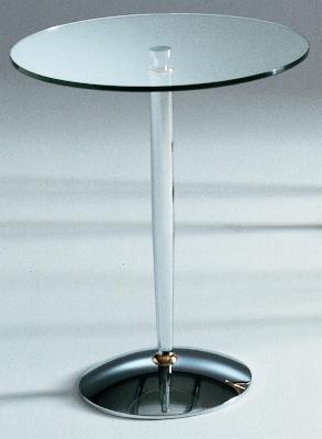 Tavolino Diadema. Cm Ø52 x h.56 -Colore: Verniciato Oro. Particolari in ottone: Cromato - 100% MADE IN ITALY -