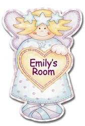 Personalised Angel Door Plaque