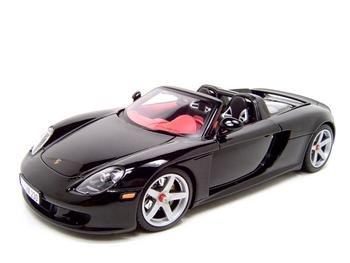 Porsche Carrera Gt Black 1:18 Diecast Model