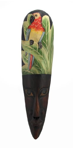 African Jungle Parrot Mask Wall Hanging Africa Decor front-1058278