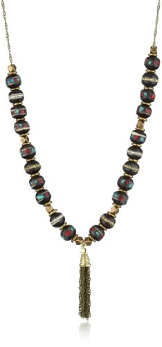 Vanessa Mooney Talula Tassel Rosewood Long Necklace