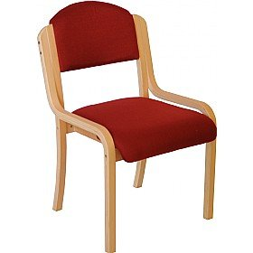 Devonshire Wooden Frame Stacking Chair Without Arms - Wine