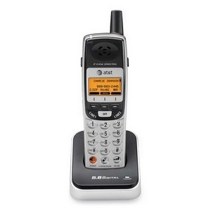AT&T TL76008 5.8GHz 2-Line Digital Cordless Expansion Handset (Titanium and Metallic Charcoal)