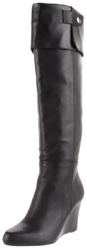 Adrienne Vittadini Footwear Women's Mac Knee-High Boot, Black Nappa, 7.5 M US