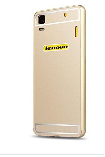 Luxury Aluminum Frame+Acrylic Back Cover Case Bumper For Lenovo A7000