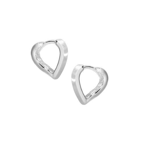 VINANI Klapp-Creolen Small Heart Silber 925 Ohrringe CSH