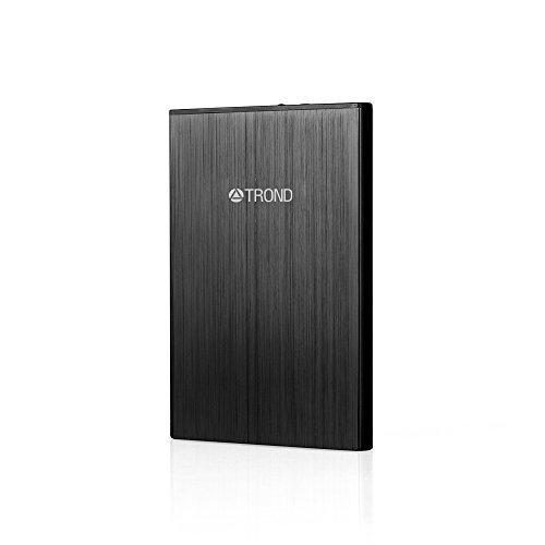 TROND ® Air 4000mAh Caricabatterie Portatile Batteria esterna Power Bank (8mm Ultra sottile, 2.4A ricarica intelligente, 2.0A ricarica veloce, è rivestita totalemente in alluminio), ideale per Apple iPhone 6S 6 Plus 5S 5, Samsung Galaxy S6 Edge S5 S4 S3 nota 5 4, iPad, Tablet e molto altro - Nero