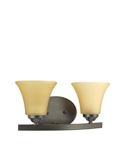 Progress Lighting Adorn 2-Light Vanity Fixture, Antique Bronze