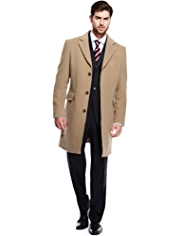 Big & Tall Collezione Luxury Italian Wool Rich Coat with Cashmere