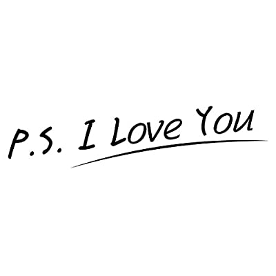 P.S. I Love You - Vinyl Wall Quotes Stickers Sayings Home Art Decor Decal