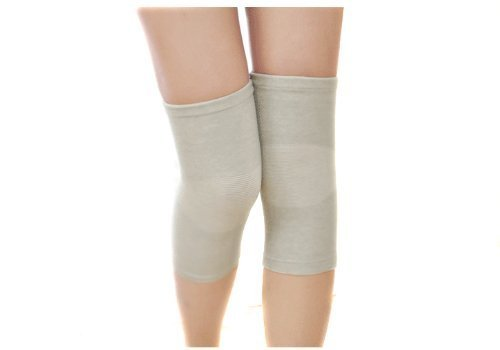 Eforcase Thin Style Bamboo Charcoal Inserts Ultra-thin Knee Air Conditioner Movement Sporting Exercise Warm Summer Knee Joint Yoga Dancer Kneecap Kneelet For Male Female (XL)