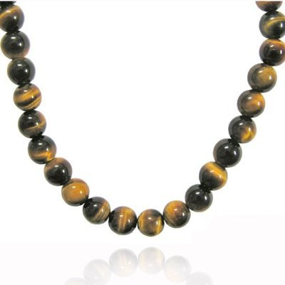 4 MM Tiger Eye Bead Necklace 16