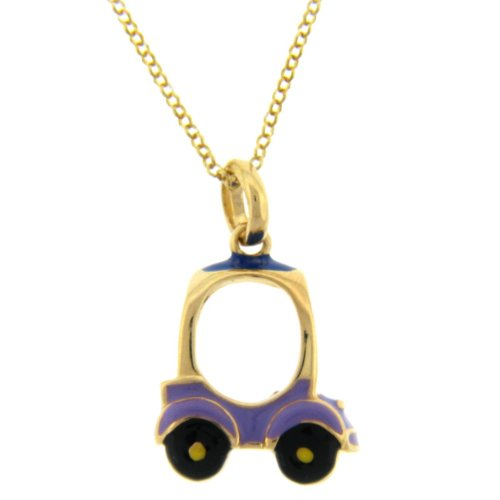18kt over Sterling Silver Toy Car Pendant