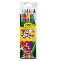 Crayola Twistables Erasable Colored Pencils, Assorted Colors (12-Pack) - 1