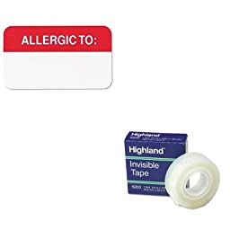 KITMMM6200341296TAB01000 - Value Kit - Tabbies Medical Labels for Allergies (TAB01000) and Highland Invisible Permanent Mending Tape (MMM6200341296)
