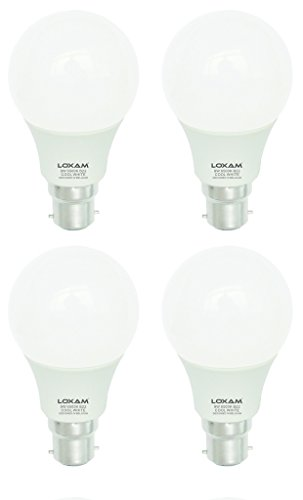 9W B22 LED Bulbs (Cool White, Pack of 4)