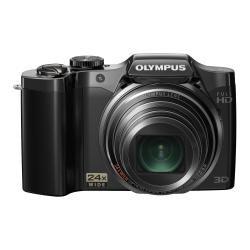 OLYMPUS デジタルカメラ SZ-30マルチレコーディング ブラック 1600万画素 光学24倍ズーム 広角25mm 3.0型液晶 3Dフォト機能 フルハイビジョンムービー SZ-30MR BLK