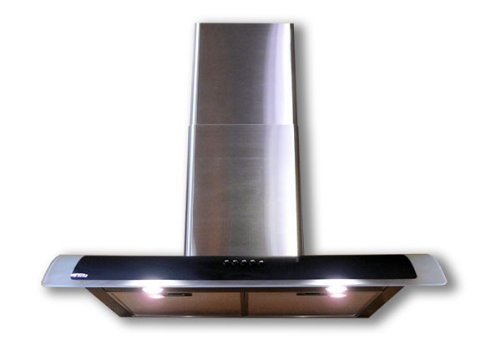 Euro-Kitchen 36 Wall S/S Chimney Glass Exhaust Range Hood SV198D936