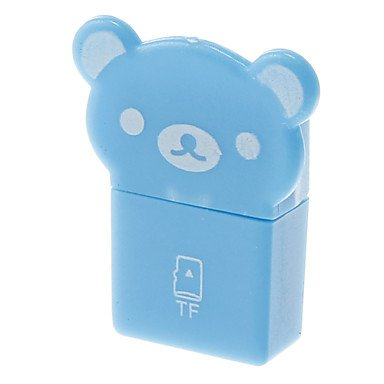 Zcl Mini Usb Memory Card Reader (Blue)
