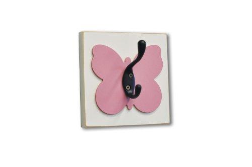 Homeworks Etc Butterfly Single Wall Hook, Dark Pink front-867988