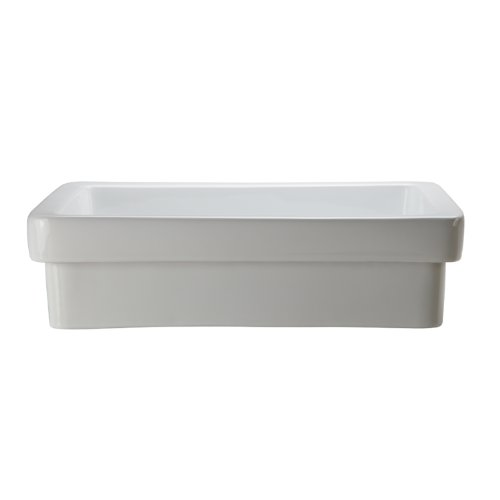 Read About Decolav 1453-CWH Classically Redefined Semi-Recessed Lavatory Sink, White