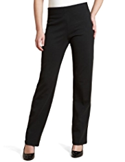 M&S Collection Slim Leg Pull On Jersey Ponte Trousers