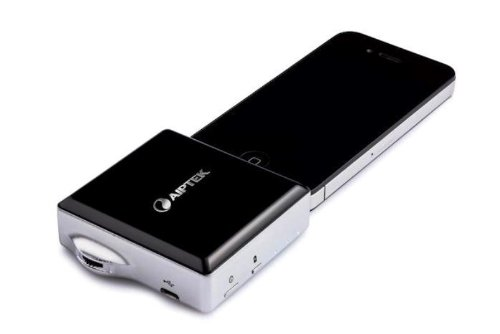 Compact projector for iphone ipad and ipod aiptek for Pico projector ipad