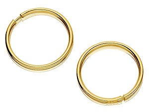 9ct Gold ULTRA Mini Hoop Earrings - 9mm