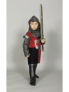 Chevalier enfant Costume rouge et noir -. Taille: 152