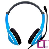 Live Tech 400 Blue & White Headphone