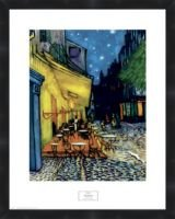 A Sidewalk Cafe at Night 1888 by Vincent Van Gogh Framed Poster Print 25X20